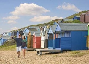 Beach huts at Milford-on-Sea, Hampshire