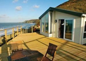 Stunning coastal views and accommodation at Gwalia Falls Holiday Park, Cardigan