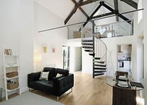 Stylish contemporary interior at Smithy Barn, Sandiway, Cheshire