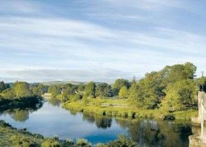 View from River Edge Lodges, Bridge of Earn Perth, Perthshire